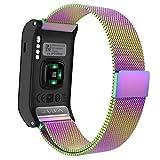 MoKo Armband für Garmin vívoactive HR - Edelstahl Milanese Magnet Uhr Band Strap Uhrenarmband Erstatzband Replacement für Garmin vívoactive HR Sport GPS-Smartwatch, Mehrfarbig