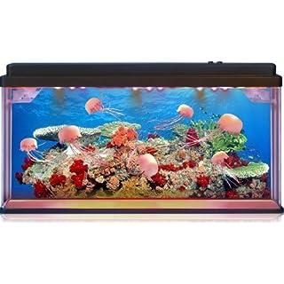 Jelly Fish/Sea Turtle Aquarium Mood Lamp with LED Lights 3D Backing - Stunning! Fantastic Gift (Jellyfish)