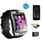 Smartwatch, TKSTAR Touchscreen Smart Watch Telefon Smart Business Uhr Q18 Armband Uhr mit Bluetooth Kamera Unterstützung SIM TF Karte Smartwatch für Android Samsung LG Google Pixel und iPhone 7 7Plus 6 6s 6s Plus