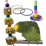 WENTS Forniture pappagalli pappagalli rettifica Bite Giocattolo e 1Confezione da 1Parrot ghiera Giocattolo per Il Tuo pappagalli Soddisfare la curiosità sviluppare la coordinazione