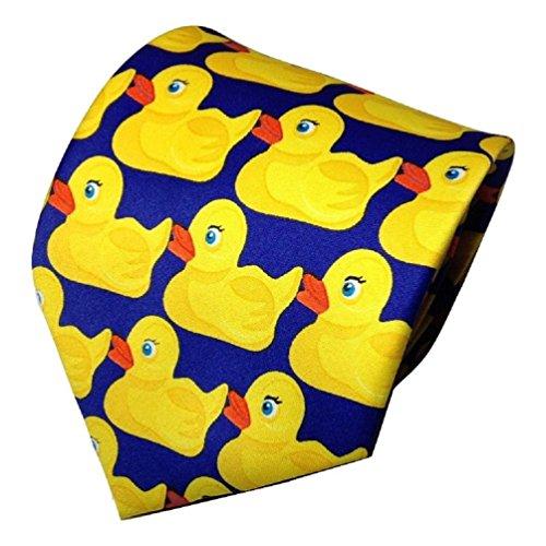 Preisvergleich Produktbild TrendyLuz Krawatte mit Enten-Motiv,  aus Gummi