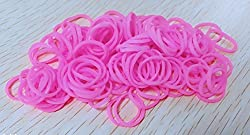 Ricisung Pack Of 250 Small Mini Hair Elastics Rubber Braiding Bands For Dreads Cornrows Braiding (Pink)