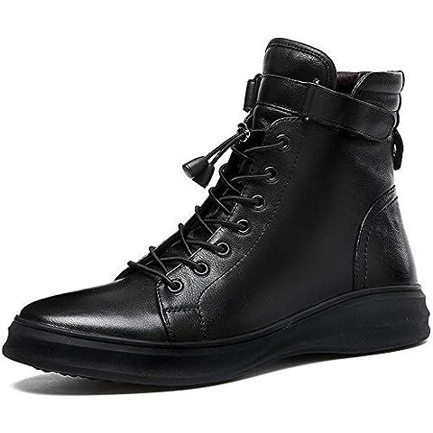 Autunno uomo inverno mantenere caldo tendenza scarpe Casual Inghilterra Martin stivali scarpe , black , 43