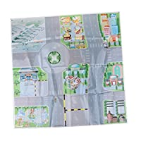 D DOLITY Puzzle Road Sign Drawing Parking Lot City Simulated Scenes Diagram Model Toy