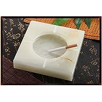 Giada naturale posacenere Regina creativa in stile retrò moda posacenere decorativi,18cm quadrato confezione regalo
