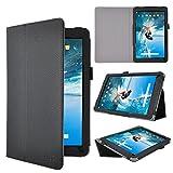 Odys Space 10 plus 3G Tablet Schutz, IVSO hochwertiges PU Leder Etui hülle Tasche Case - mit Standfunktion, ist für Odys Space 10 plus 3G 10,1 Zoll Tablet-PC perfekt geeignet, Schwarz