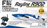 Fm-electrics RC Boot Rayline R902 2.4GHz Tiger-Shark High Speed Boat, Ferngesteuertes Motorboot mit 35 Km/h Topspeed !! Wie FT009