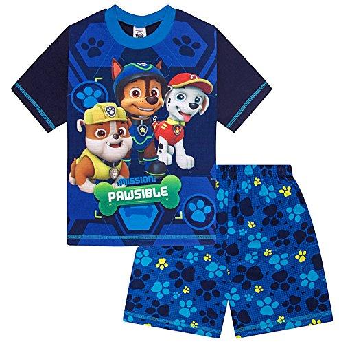 Paw Patrol Short Pyjamas Boys 3 to 7 Years Nick Jr Pyjama Pjs W17 Blue