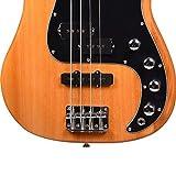 Kadence, Chronicle Series Electric Bass Guitar, Natural Ash Wood with P-J Pickup, 2
