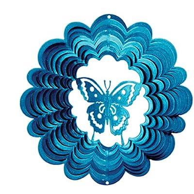 Iron Stop Windspinner Klassischer Windspinner, Schmetterling, klein, 15 cm, blau von Woodstream auf Du und dein Garten