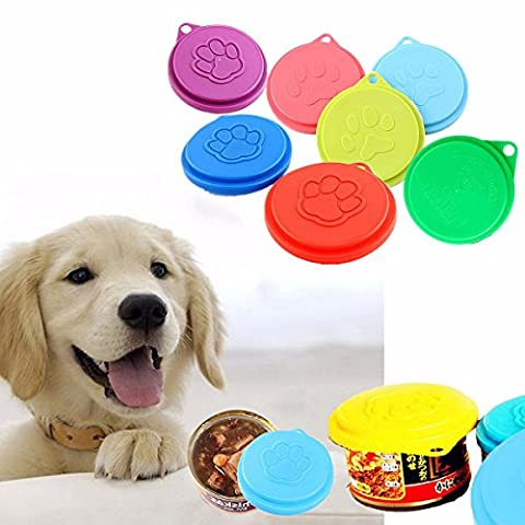 Tutoy Pet Dog Cat Food Cap Capsule De Bouteille Housse De Récipient Housse Pet Tin Plastic Reusable Storage Cap Top 88M