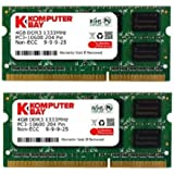 Komputerbay 8GB (2x 4GB) DDR3 SODIMM (204 broches) 1333Mhz PC3-10600 (9-9-9-25) PC portable Mémoire pour Apple iMac