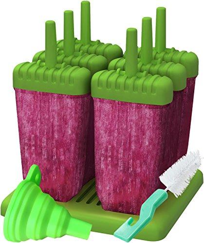 AUSVERKAUF-Ozera wiederverwendbar Popsicle Formen Ice Pop Formen, Set von 6 grün Frozen Pop Mold-sticks