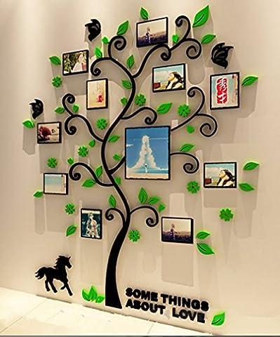 Cadre 160x60 - bellabrunnen cristal 3D acrylique décoration arbre amovible