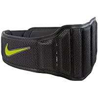 50c127789fcf Nike Ceinture de Musculation Structured Training 2.0, Noir Volt, Taille XL