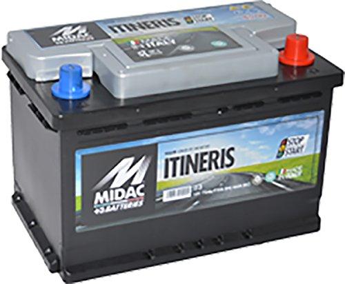 Batterie-Batteria-Auto-Midac-72Ah-720A-POLO-Positivo-a-Destra-new-tecnology-START-STOP-BATTERIE-PER-AUTO-START-STOP