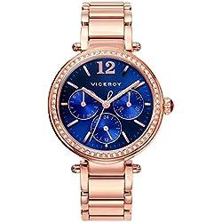 Viceroy 471056-35 Stahl Frauen Uhr-Rosa-Multifunktions