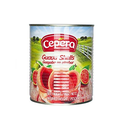 Eingelegte Guaven aus Brasilien, Dose 850g (Abtropfgewicht 400g) - Goiaba em Calda CEPERA 850g