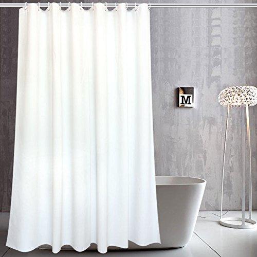 J&DUS Dusche Vorhang Weiß, Wasserdichte schimmelresistent Stoff Vorhang Liner für Badezimmer, Datenschutz Schweres Gewicht-A 120x200cm(47x79inch) -