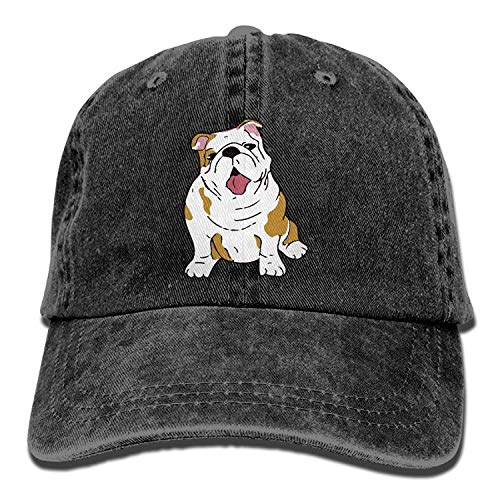 Zhgrong Unisex English Bulldog Vintage Jeans Baseball Cap Classic Cotton Dad Hat Adjustable Plain Cap Beach hat