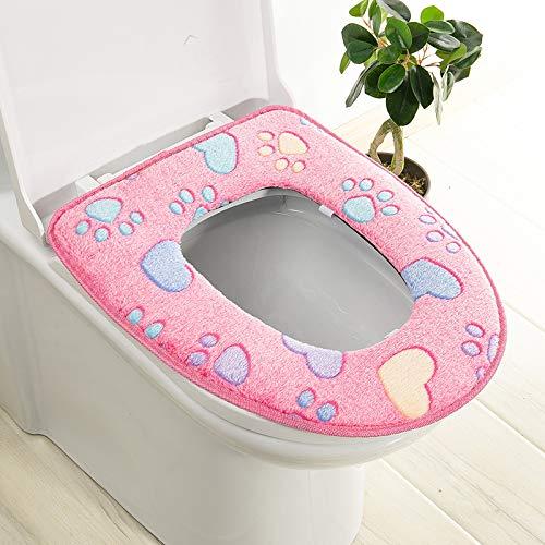 Trap-o-ring (BAOZIV587 2er-Pack WC-Sitzkissen Haushalt Toilettendeckel Aufkleber Wc Trap Waterproof Universal-Wc-Sitzmatte Summer, Pink Glue)