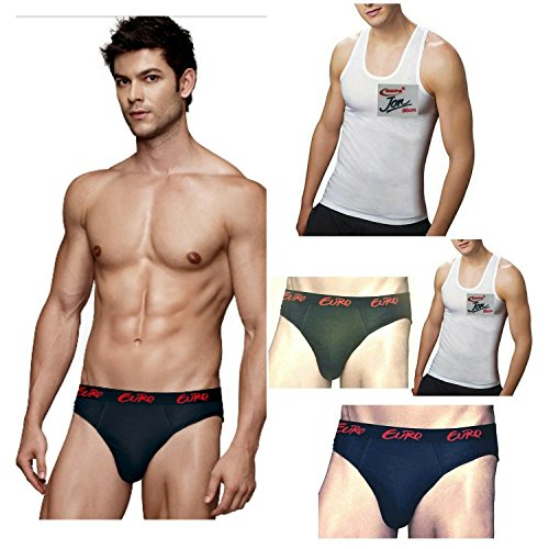 Euro & Rupa Men's Cotton 3 Briefs & 2 vest (Pack of 5)  available at amazon for Rs.339