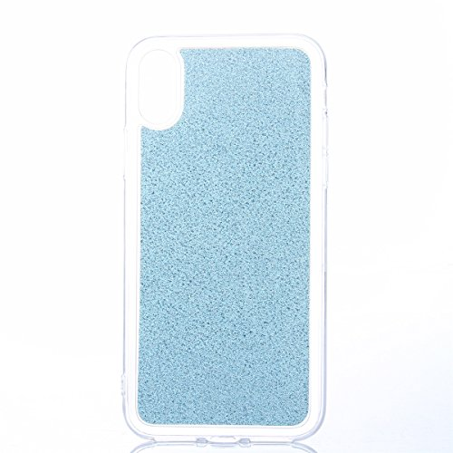 CaseforYou Hülle iphone X Schutz Gehäuse Hülse Ultra Slim Fit Gradient Soft TPU Phone Back Case Cover Protective Shell Schutzhülle für iphone X Handy (Silver) Cyan