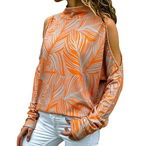 Damen Pullover Winter, Frauen Sweatshirt Nähen Rundhals Fashion Bluse Drucken Oberteile Lange ärmel Casual T-Shirt Hemd Freizeithemd Langarmshirt Tops