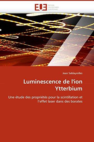 Luminescence de l''ion ytterbium par Jean Sablayrolles