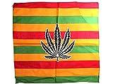 Bandana di colori e motivi diversi (BA-130) marijuana multifunzione classica foulard scialle collo rocker biker motociclista motorcycle pirata accessorio hip hop cappellino cowboy bracciale