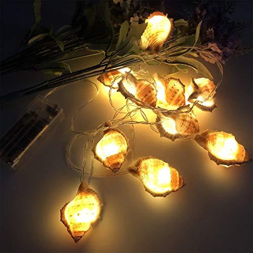 Lichterkette Außen TianranRT LED dekorative Lichter Ocean Conch Light String Foto Requisiten Party Dekoration