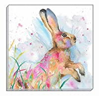 Artistic Animals Colourful Profile Hare Evans Lichfield Canvas Wall Art Picture 40cm by Evans Lichfield