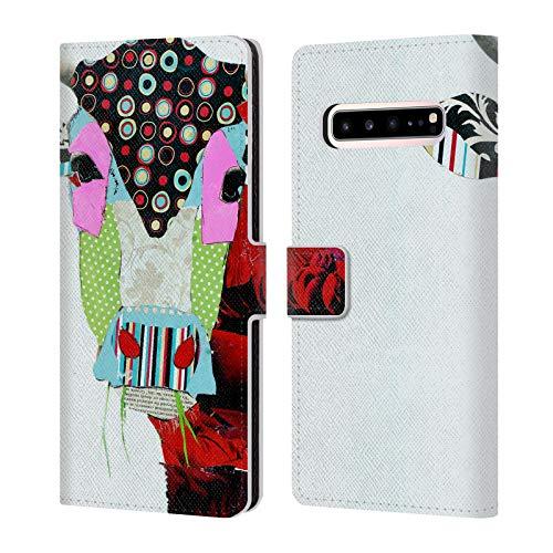 Head Case Designs Offizielle Michel Keck Kuh 2 Tiere Leder Brieftaschen Huelle kompatibel mit Samsung Galaxy S10 5G -
