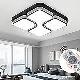 MYHOO 36W LED Modern Deckenleuchte Dimmbar Deckenlampe Wohnzimmer Lampe Schlafzimmer Küche Panel Leuchte mit Fernbedienung [Energieklasse A++]