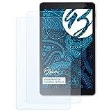 Bruni Schutzfolie für Vodafone Tab Prime 6 Folie, glasklare Bildschirmschutzfolie (2X)