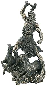 Odin du dieu thor donners s fils figurine bronzé