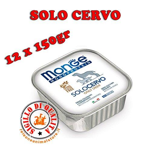 Monge Monoproteico SOLO CERVO Alimento umido per Cani 12x150gr