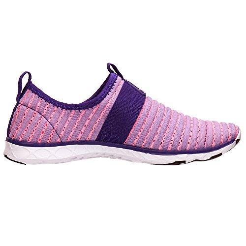 Aleader Ladies Water Shoes Rete Pantofola Viola 9976