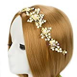 #2: YouBella Fashion Jewellery Floral Stone Hair Chain Clip with Pins accesories for Women and Girls