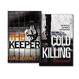 Luke Delaney Di Sean Corriga Series Collection 2 Books Set, (The Keeper & Cold Killing)