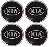 Tappi coprimozzo adesivi con logo Kia per cerchioni, in alluminio, set da 4 pezzi da 60 mm