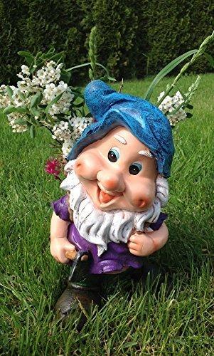 Design XL Zwerg mit Blumentopf 30 cm Hoch 50615 – 2 Deko Garten Gartenzwerg Figuren Dekoration
