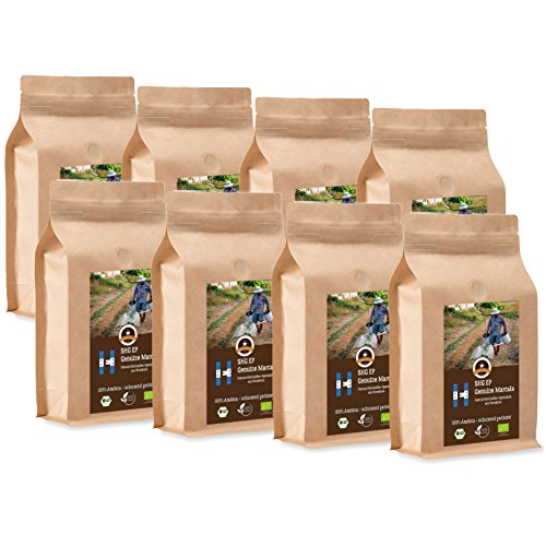 Kaffee Globetrotter - Honduras Genuine Marcala - Bio - 8 x 1000 g Fein Gemahlen - für...