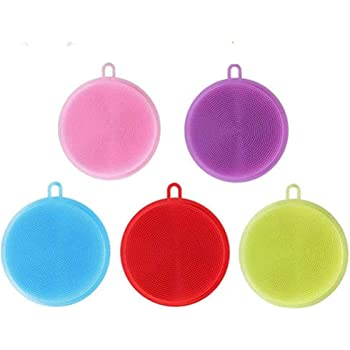 yimoji silicone dish scrubber soft kitchen multi purpose dish rh amazon co uk