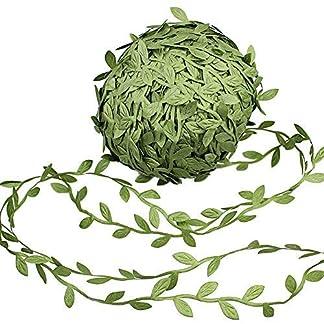 make it funwan – Guirnaldas de Flores Artificiales de Seda para Colgar, 164 pies, imitación de Hojas Verdes de ratán, Accesorio de Corona para Bodas, Manualidades, decoración de Fiestas, Color Verde