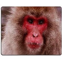 Yanteng Cojín de ratón de Caucho Natural Mono de Nieve Mirando M0A14724