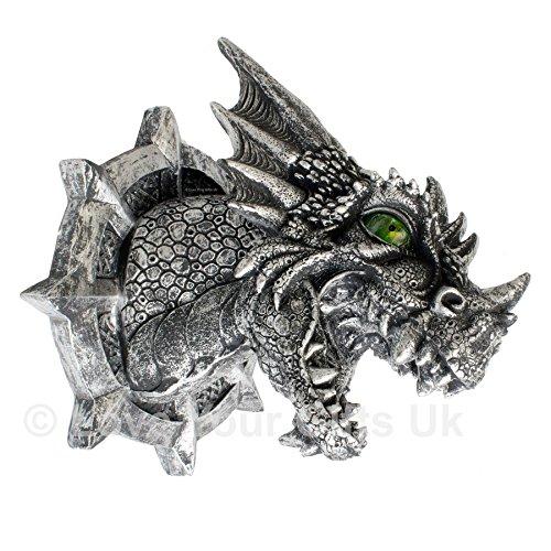 Ferox Targa da parete a forma di testa di drago Occhi Illuminati Nemesis Now.