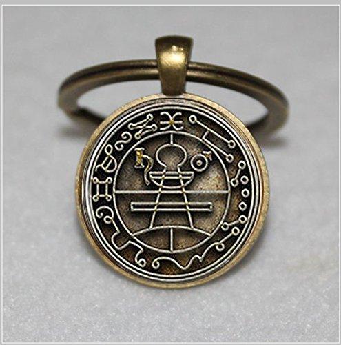 Schlüsselanhänger, in Silber Vergoldet Lünette Schlüsselanhänger, mit passender Kette & #-; Einzigartige Schlüsselanhänger Key Ring Geschenk & #-; Everyday Geschenk Schlüssel Kette (Lünette Mit Kuppel)