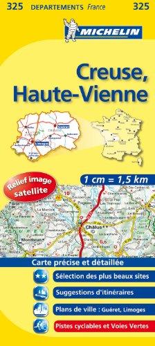 CREUSE / HAUTE - VIENNE 11325 CARTE ' LOCAL ' ( France ) MICHELIN KAART (KAARTEN/CARTES MICHELIN)