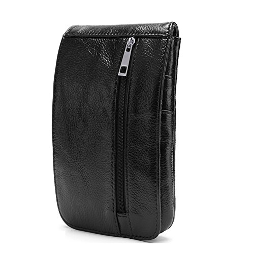 M I S F I T S Herren Taschen Vintage Leder Gürtel Handy Bag Male Outdoor Bergsteigen Tasche